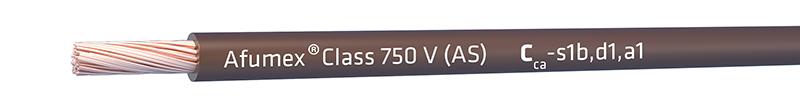 Cable Afumex Class 750 V (AS) con clase de reacción al fuego (CPR) Cca-s1b,d1,a1