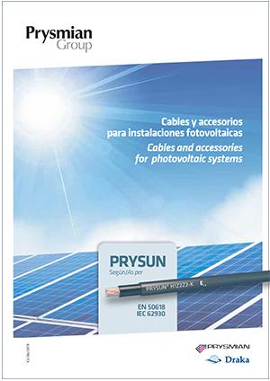 Catálogo de cables y accesorios para instalaciones fotovoltaicas