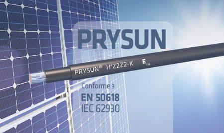PRYSUN® para instalaciones fotovoltaicas según el estándar europeo EN 50618 e internacional IEC 62930