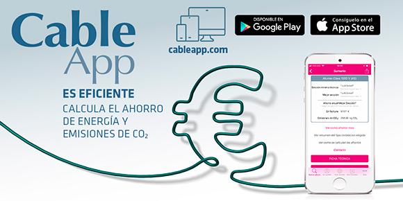 CableApp. Tu App profesional de cálculo de la mejor sección para tu instalación.