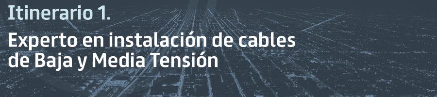 Itinerario 1. Experto en instalación de cables de Baja y Media Tensión