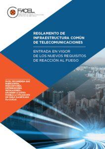 """Circular Informativa Facel sobre """"la entrada en vigor de los nuevos requisitos de reacción al fuego"""" en las ICT."""