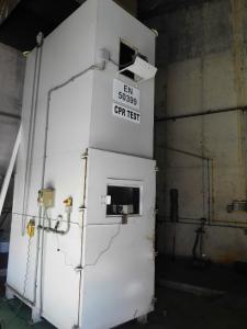 Equipo de ensayo para medir la emisión de calor durante la combustión de los cables con clase Dca-s2,d2,a2