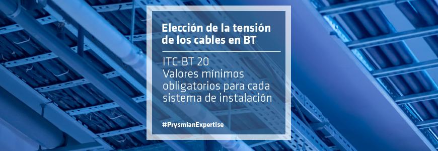 Elección de la tensión de los cables en BT
