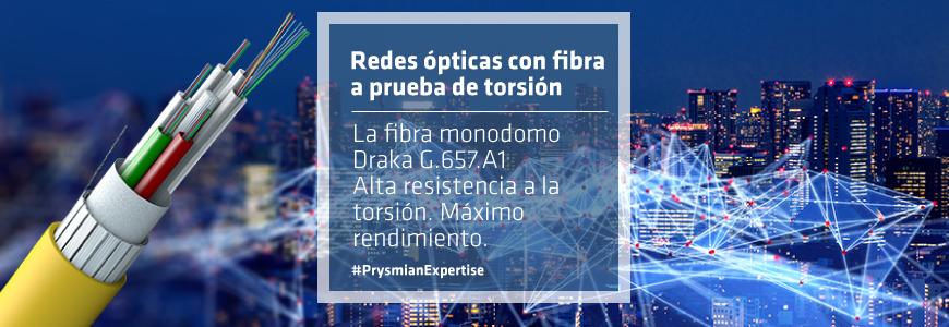 Redes ópticas con fibra a prueba de torsión