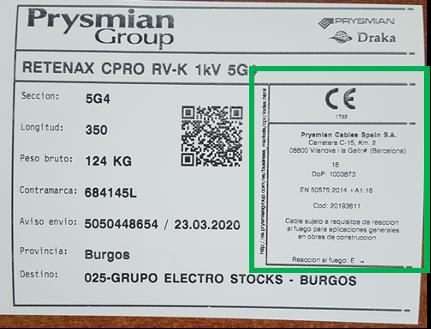 Etiqueta Retenax CPRO Flex