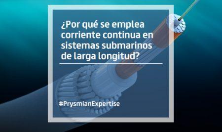 ¿Por qué se emplea corriente continua en sistemas submarinos de larga longitud?