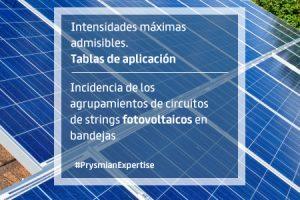 Incidencia de los agrupamientos de circuitos de strings fotovoltaicos en bandejas