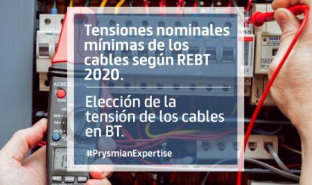 Elección de la tensión de los cables en BT.